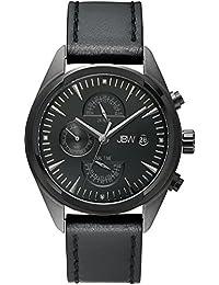 JBW Men's J6300E The Woodall Analog Display Swiss Quartz Black Watch