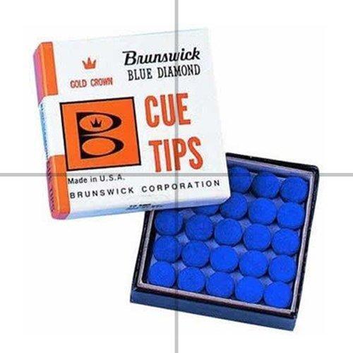 Blue Diamond - Juego de punteras de tacos de billar (5 unidades, 9mm, para pegar) Brunswick