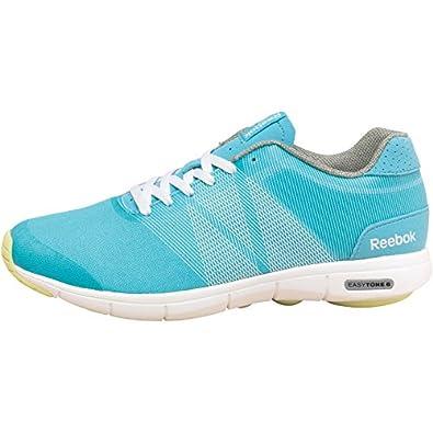 9bf69c611274c9 Reebok Womens Easytone 6 Soul Trainers Blue White Yellow (40.5 UK 7 Euro