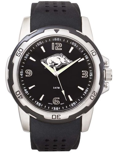 acks Men's Stealth Sport Watch (Arkansas Chrome Clock)