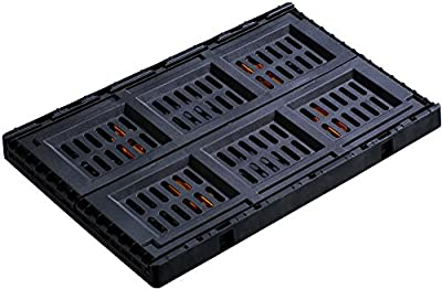 Stack-On FCB-2316 Collapsible Stackable Folding Crate, Black