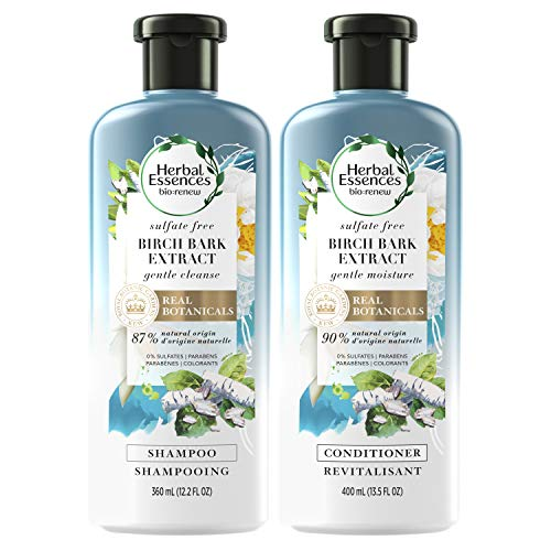 Herbal Essences, Shampoo and Sulfate Free Conditioner Kit, BioRenew Birch Bark Extract, 13.5 & 12.2 fl oz, Kit
