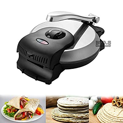 "Tortilla Press 8"" Electric Heavy Duty Tortilla Maker Flour Corn Manual"