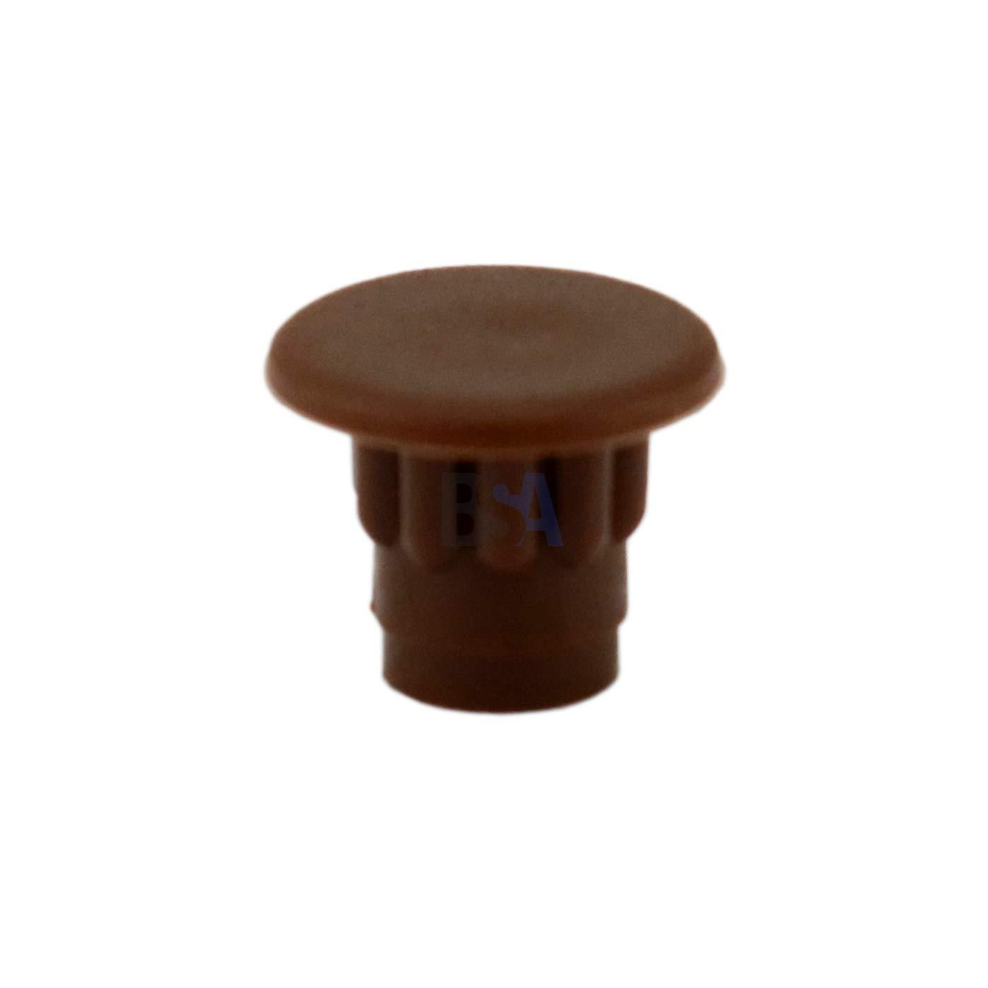 WURTH 06832772-20 tapones para agujero de 5 mm cabeza: 7 mm color marr/ón pl/ástico tap/ón: cubre agujero para muebles de 5 mm profundidad del orificio: 5 mm