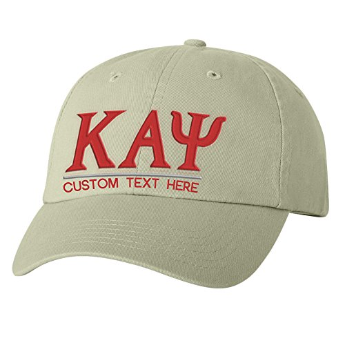 Personalized Kappa Alpha Psi Greek Line Hat Tan (Tan Line Design)