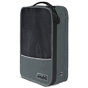Dot&Dot - Shoe Bag - Convenient Packing System For Your Shoes When Traveling - Space Saver Bag - Easy and quick access to your shoes (Gray, One Piece Pack)