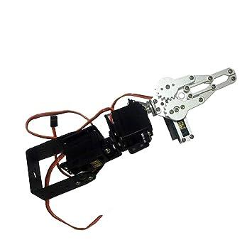 FLAMEER Kit de Construcción de Brazo Robótico Metal Robot Educativo Múltiples Movimientos Funciones: Amazon.es: Juguetes y juegos