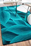 nuLOOM Svetlana Hand Tufted Wool Rug, 5' x 8', Teal