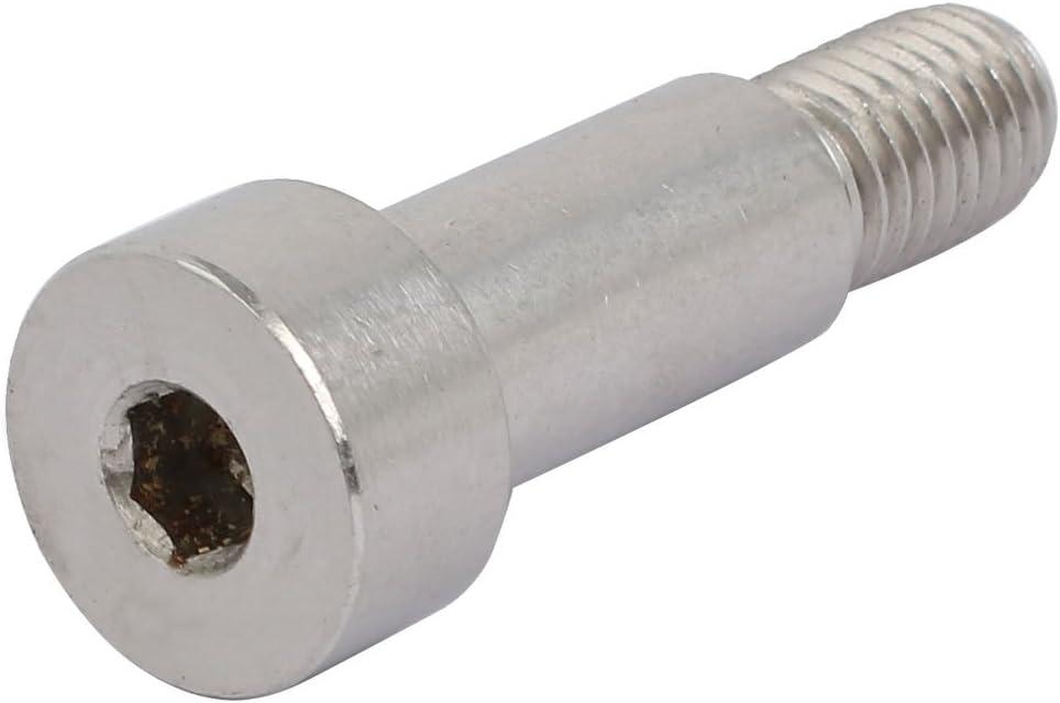 uxcell 304 Stainless Steel Hex Socket Drive Shoulder Bolt 12mm Shoulder Dia 25mm Shoulder Length M10 Thread