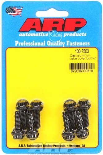 (ARP 1007503 Cast Aluminum Valve Cover Bolt Kit - Set of 8)
