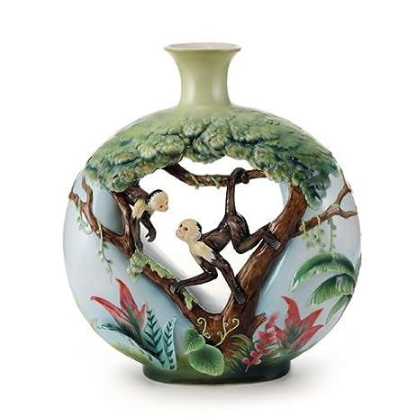 Amazon Franz Porcelain Monkey Mischief Large Vase Home Kitchen