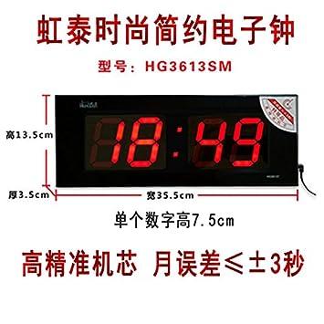 y-hui Lee tae-e-orologio Reloj de pared grande reloj digital con LED Luz nocturna Micrófono Desktop Clock de base salón relojes, hg3613 individual tiempo ...