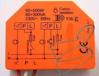 Regulador de fases luz Relco RT ES un/DP 60 ÷ 500W - 60 ÷ 300VA