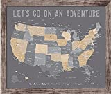 Push Pin Map of United States, Personalized USA Framed map, Best Travel gifts, Any color, 24X36