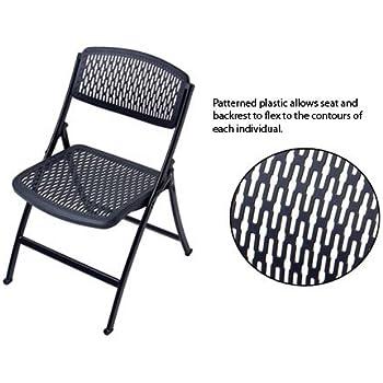 Mity Lite 1FFBKSBLK00 Flex One Folding Chair   Black