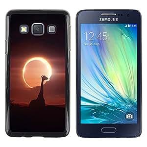 TopCaseStore / la caja del caucho duro de la cubierta de protección de la piel - Space Planet Galaxy Stars 52 - Samsung Galaxy A3 SM-A300