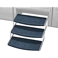 Prest-O-Fit 2-4108 Atlantic Blue 22 Wide Outrigger Radius XT RV Step Rug, 3 Pack, 3