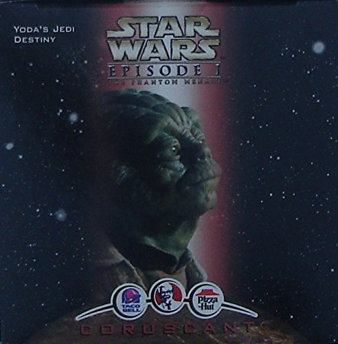 Yoda`s Jedi Destiny Star Wars Episode 1 Kid`s Meal Toy From Taco Bell, Pizza Hut, & KFC In Original - V Hut