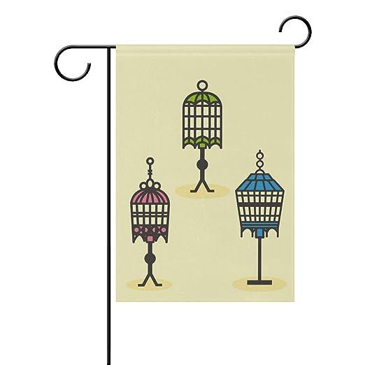 LINDATOP - Soporte para Jaula de pájaros, Bandera de jardín de ...