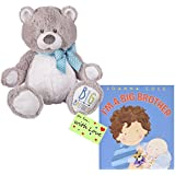 I Am a Big Brother Bear and Book Bundle with Gift Tag For You with Love