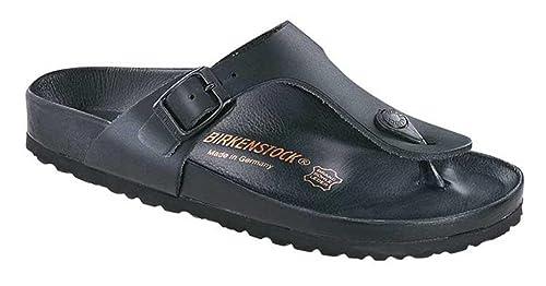 79e4b56fee29 Birkenstock Womens Gizeh Exquisite Thong Sandal Black Leather Size 41 EU  (10-10.5 M