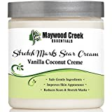 Maywood Creek Essentials Organic Stretch Mark Removal and Scar Cream, 8 oz
