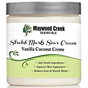 BEST ORGANIC STRETCH MARK REMOVAL CREAM 8 OZ Best Belly Butter for Women & Men - Great for Removing Stretch Marks Due to Pregnancy & Weight Gain - SAFE for Pregnant Moms