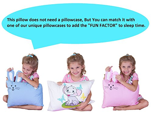 kinder Fluff Toddler/Travel Pillow -No extra Pillowcase/Sham needed-The only Pillow with 300T Cotton and Cluster fiber fill- Hypoallergenic and Machine washable by kinder Fluff (Image #4)