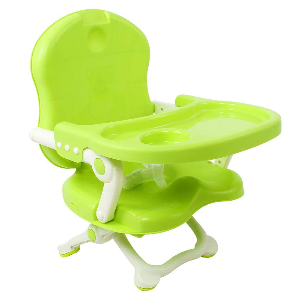 Multifunzione Sedia Da Pranzo Infantile Plastica Pieghevole Tavolo Da Pranzo Portatile Per Bambini,verde