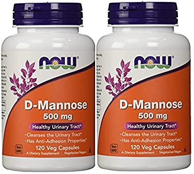 Now Foods By Now D-mannose Healthy Urinary Tract 500 Mg-(Pack of 2)-120 Veg Capsules