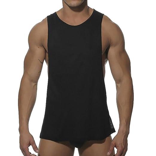 19f5a4ebb2b19 Qisc Mens Tops Men s Muscle Gym Workout Stringer Tank Tops Bodybuilding  Fitness Vest T-Shirts