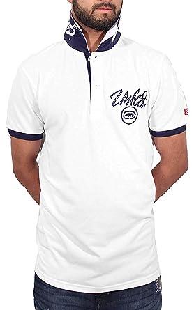 Ecko - Polo - con Botones - para Hombre Blanco Blanco S: Amazon.es ...