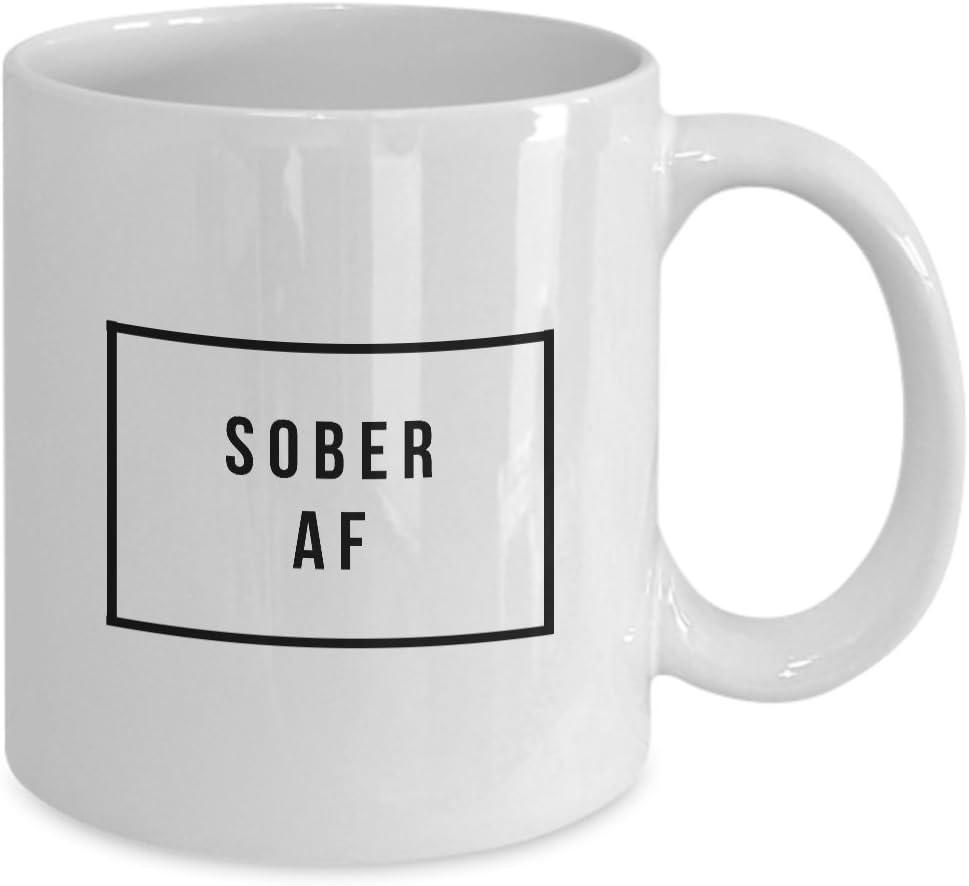 Sobriety Gifts For Women Sober Af Mug Men Soberversary Sober Gifts