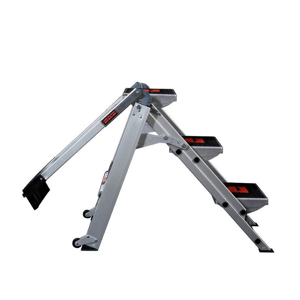 Step Stool Wooden - Stufenleiter Stufenleiter Stufenleiter Tragbarer Metall-Rutschsichere Faltbarer Mehrzweck-Tritthocker mit Rolle, max. 136 kg Welcome c51f5c