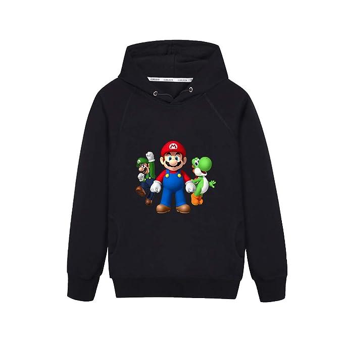 AILIENT Super Mario Estampar Otoño Invierno Personalidad Sudadera con Capucha para Niño y Niña Manga Larga con Capucha: Amazon.es: Ropa y accesorios