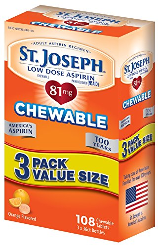 St. Joseph Low Dose Chewable Aspirin Multi Pack, 108 Count