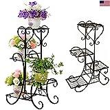 Cheap Godung 4 TIER Metal Shelves Flower Pot Plant Stand Display Indoor Outdoor Garden Patio Shelf Step