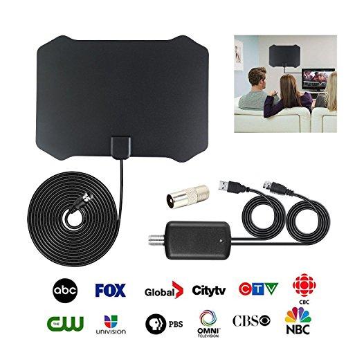 Visión clara antena Booster, interior antena digital HDTV 20184K Ultra HDTV Antena 50A 60miles de alcance...