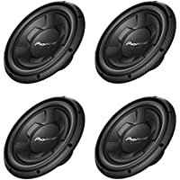 Pioneer 1300 Watt 12 Inch Single 4-Ohm Car Audio Subwoofer, 4 Pack | TS-W126M