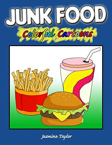 Junk Food Colorful Cartoon Illustrations ()