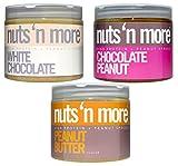 Nuts N More Variety Pack Sampler: Peanut Butter, White Chocolate Peanut Butter, Chocolate Peanut Butter - 16 oz each