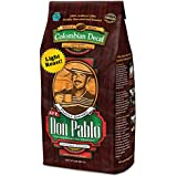 2LB Cafe Don Pablo Light Roast Decaf Swiss Water Process Colombian Gourmet Coffee Decaffeinated - Light Roast - Whole Bean Coffee - 2 Pound ( 2 lb ) Bag