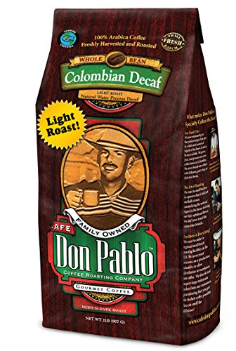 2LB Cafe Don Pablo Light Roast Decaf Swiss Water Process Colombian Gourmet Coffee Decaffeinated - Light Roast - Whole Bean Coffee - 2 Pound ( 2 lb ) (Decaffeinated Coffee Swiss Water Process)