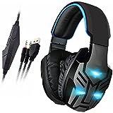 Fone de Ouvido Headset Gamer Transformer Com Vibração Cabo Nylon P2 Trançado