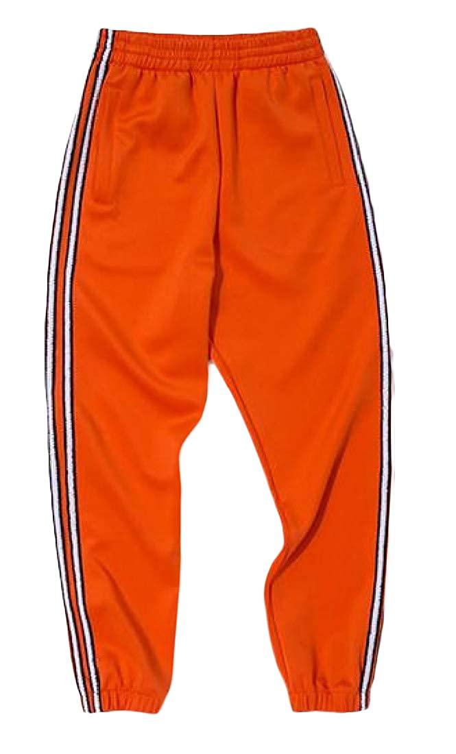 Wofupowga Big Boys Elastic Waist Striped Trousers Casual Jogger Pants