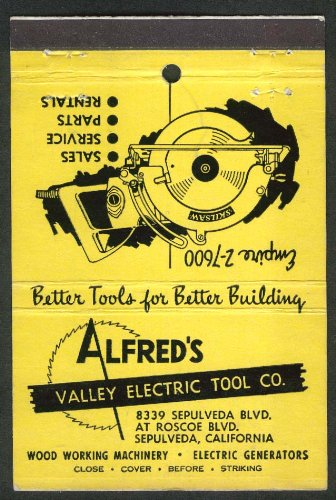 Alfred's Valley Electric Tool Co 8339 Sepulveda Blvd California -
