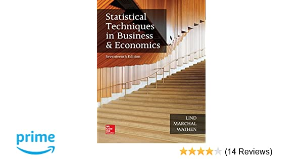 Statistical Techniques In Business And Economics 12th Edition Pdf