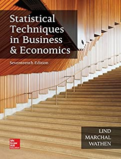 Statistical Techniques in Business and Economics (The Mcgraw-hill/Irwin Series in Operations and Decision Sciences) (1259666360) | Amazon price tracker / tracking, Amazon price history charts, Amazon price watches, Amazon price drop alerts