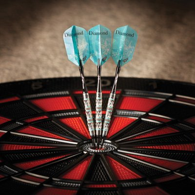 Viper Cloth (Viper Diamond 90% Tungsten Soft Tip Darts with Storage/Travel Case, Turquoise Rings, 18 Grams)