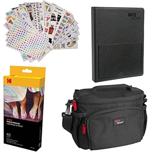 Kodak Dock Paper Cartridge Bundle + Deluxe Case + 4x6'' Album + Sticker Frames,40 Pack Bundle by Kodak